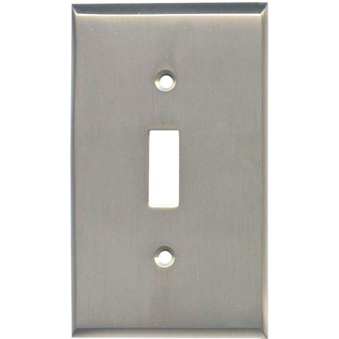 Satin Nickel - 1 Toggle Light Switch Plates