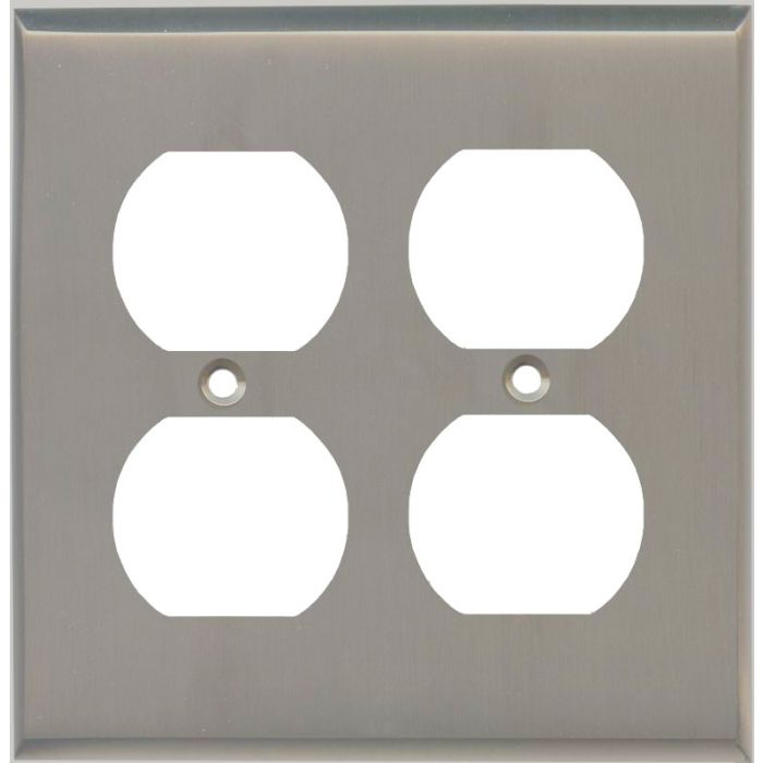 Satin Nickel - 2 Gang Electrical Outlet Covers