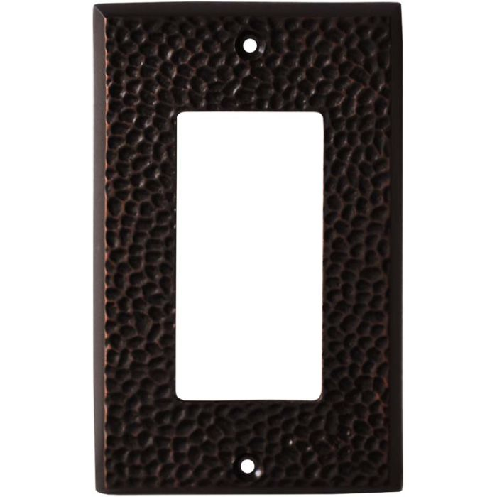 SC Hammered Antique Bronze Single 1 Gang GFCI Rocker Decora Switch Plate Cover