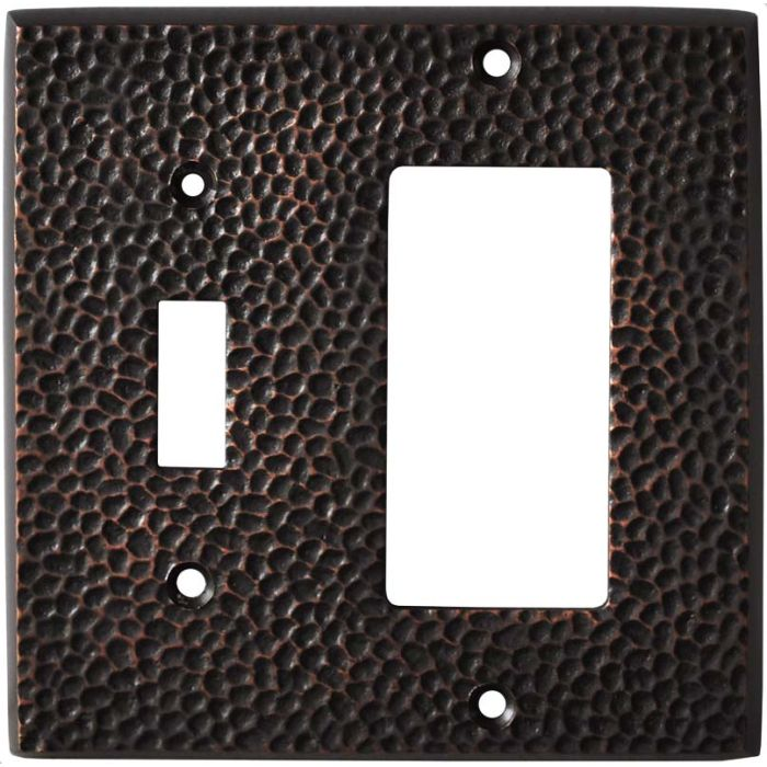 Sc Hammered Antique Bronze - Combination 1 Toggle/Rocker Switch Covers