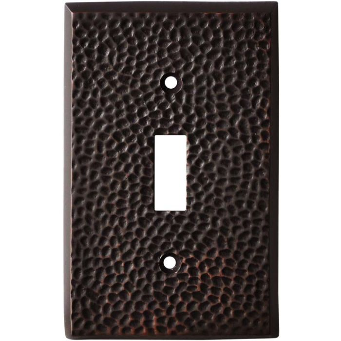 SC Hammered Antique Bronze Single 1 Toggle Light Switch Plates