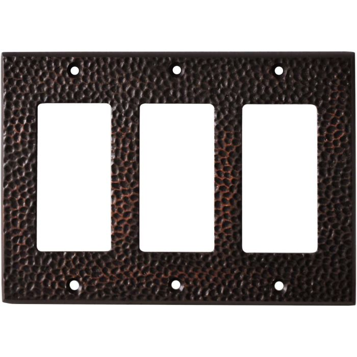 Sc Hammered Antique Bronze - 3 Rocker GFCI Switch Covers
