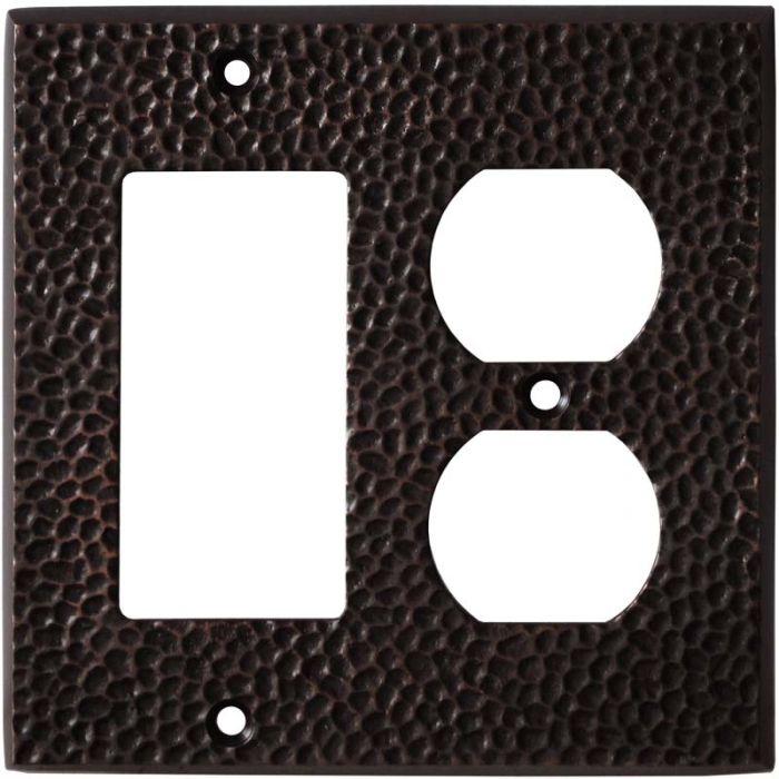 Sc Hammered Antique Bronze - GFCI Rocker/Duplex Outlet Wall Plates