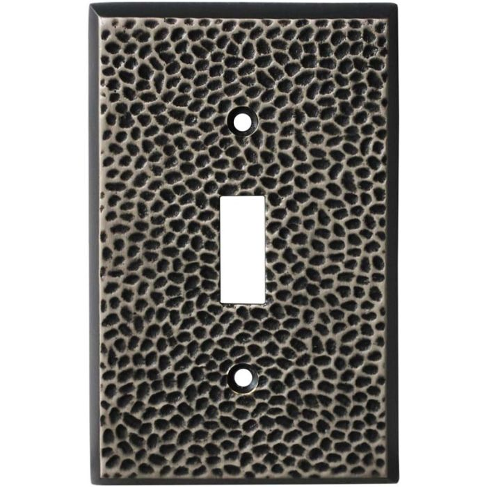 SC Hammered Antique Pewter Single 1 Toggle Light Switch Plates