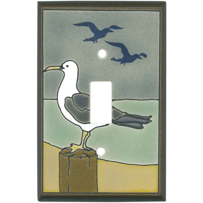 Seagull Ceramic Single 1 Toggle Light Switch Plates