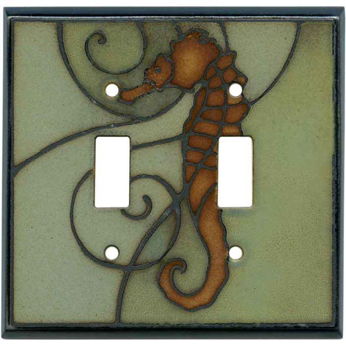 Seahorse Ceramic2 Toggle Switch Plates