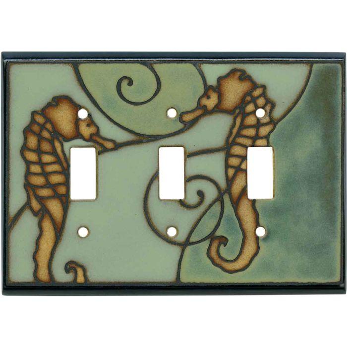 Seahorse Ceramic3 - Toggle Switch Plates