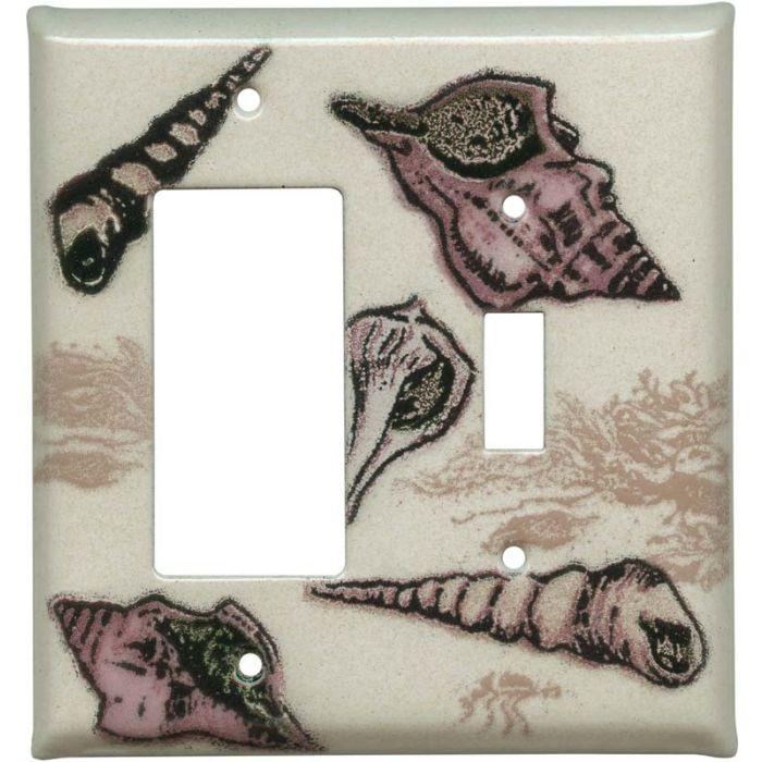 Seashells 1-Gang GFCI Decorator Rocker Switch Plate Cover
