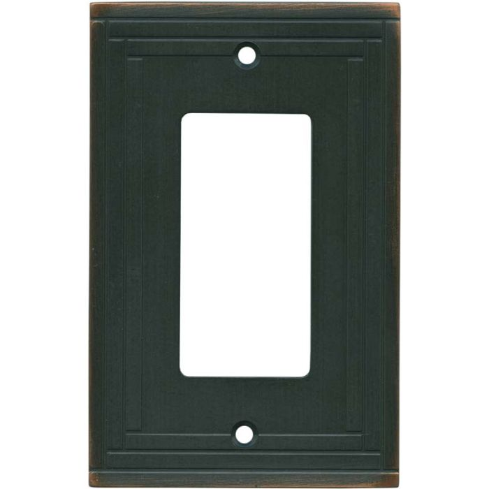 Brainerd Selby Oil Rubbed Bronze 1-Gang GFCI Decorator Rocker Switch Plate Cover