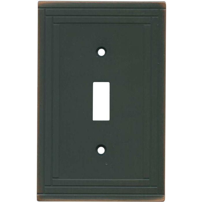 Brainerd Selby Oil Rubbed Bronze Single 1 Toggle Light Switch Plates
