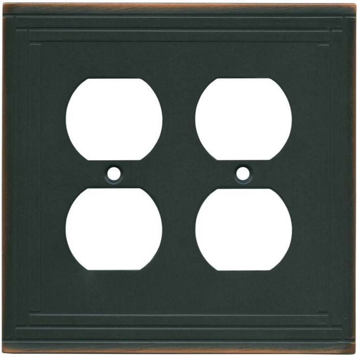 Brainerd Selby Oil Rubbed Bronze 2 Gang Duplex Outlet Wall Plate Cover