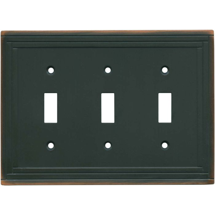 Brainerd Selby Oil Rubbed Bronze 3 - Toggle Switch Plates