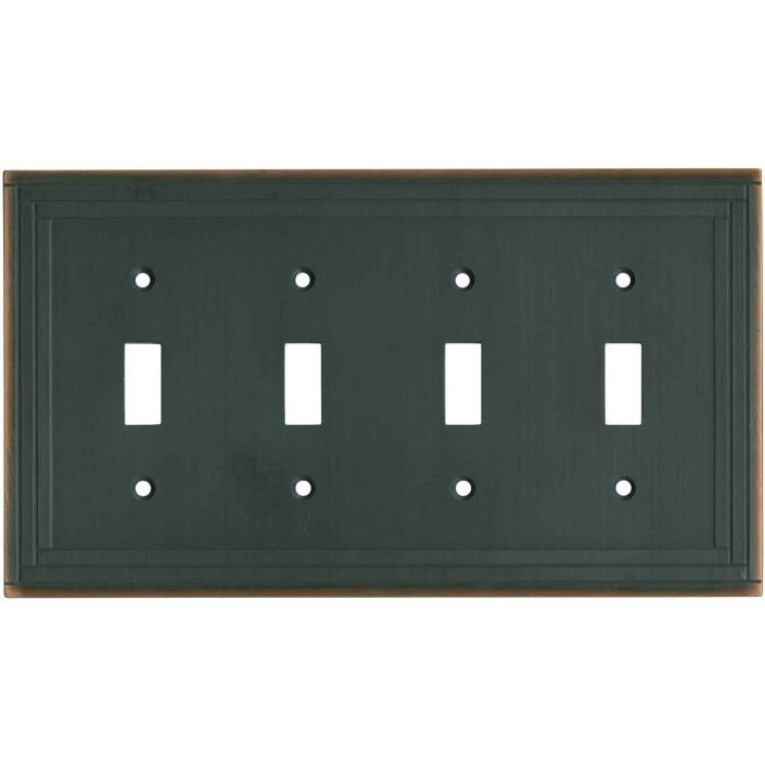 Brainerd Selby Oil Rubbed Bronze 4 - Toggle Light Switch Covers & Wall Plates