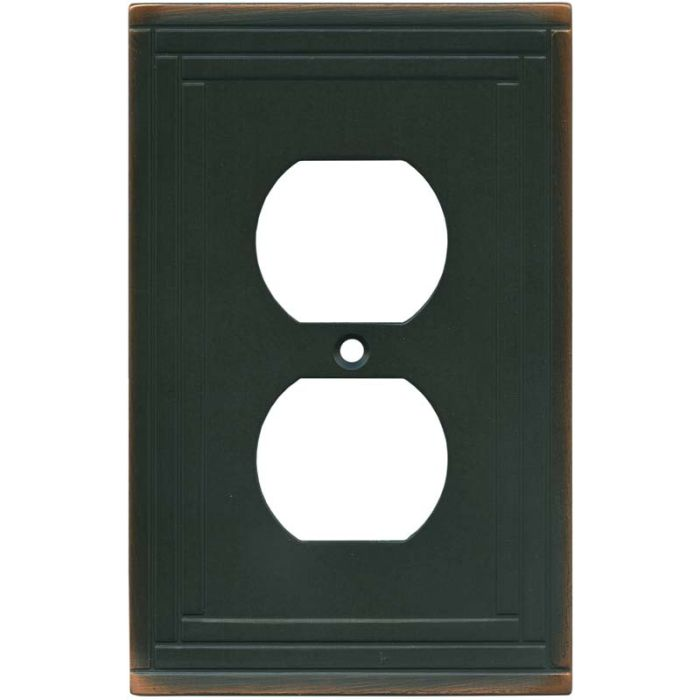 Brainerd Selby Oil Rubbed Bronze 1 - Gang Duplex Outlet Cover Wall Plate