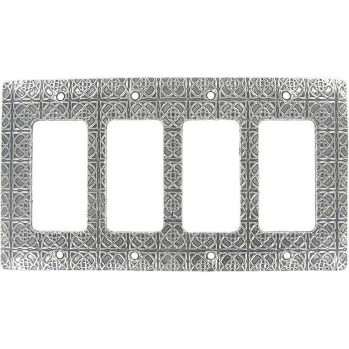 Shannon 4 Rocker GFCI Decorator Switch Plates
