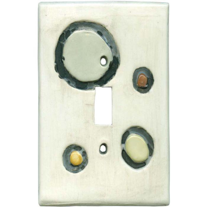 Shiny Stones Bone Single 1 Toggle Light Switch Plates