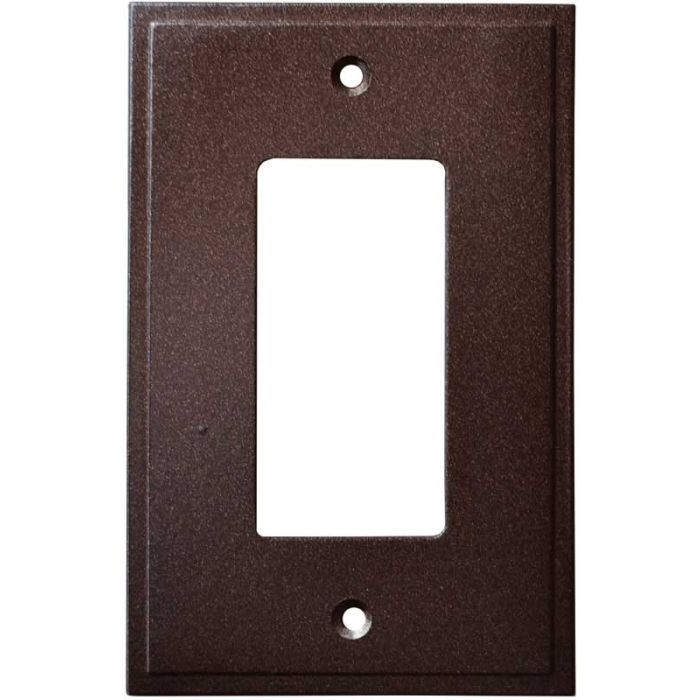Simple Step Cocoa Bronze Single 1 Gang GFCI Rocker Decora Switch Plate Cover