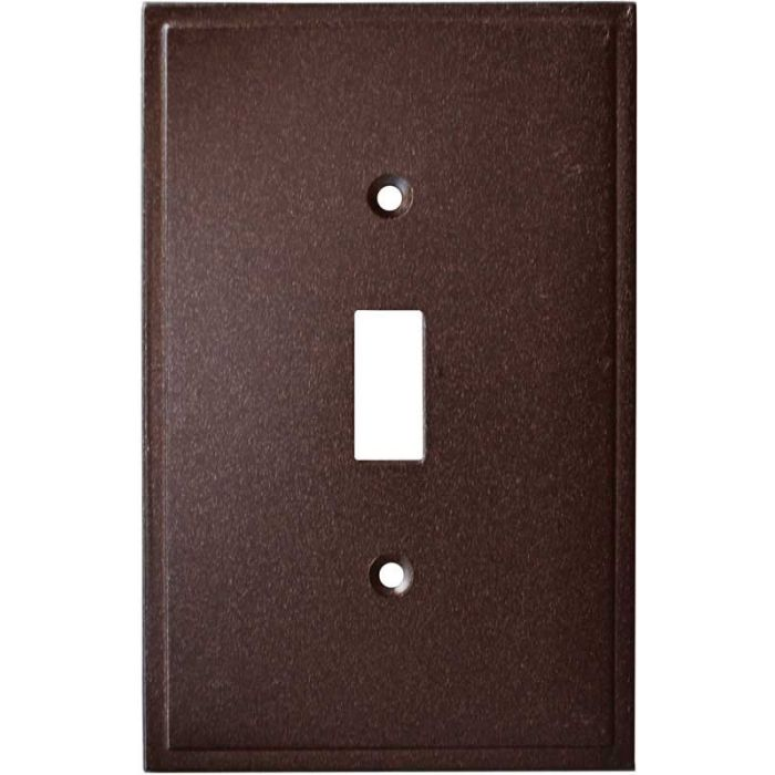 Simple Step Cocoa Bronze Single 1 Toggle Light Switch Plates