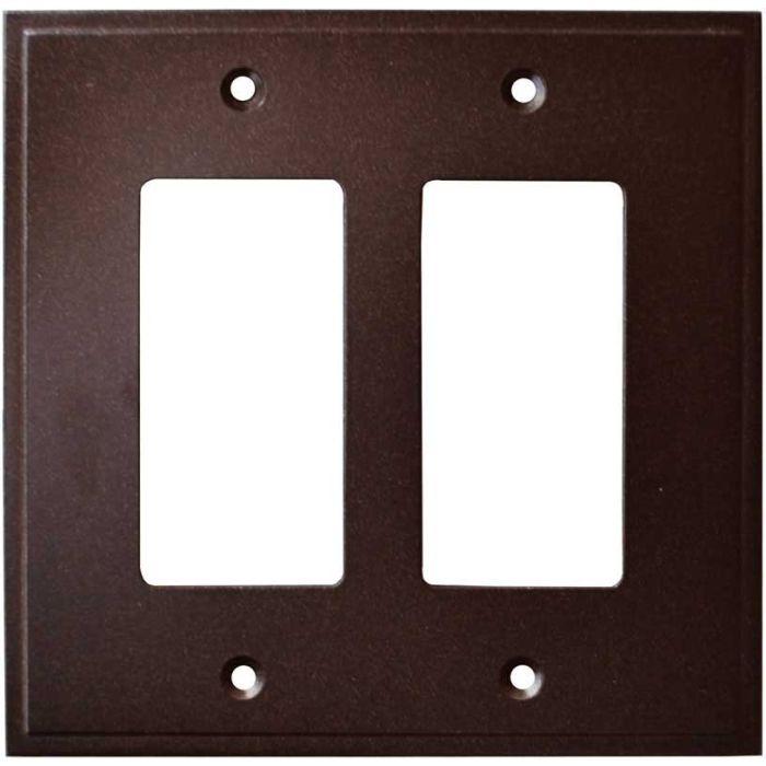 Simple Step Cocoa Bronze 2 Gang Double GFCI Rocker Decorator Wallplates
