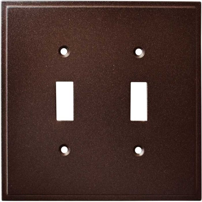 Simple Step Cocoa Bronze Double 2 Toggle Switch Plate Covers