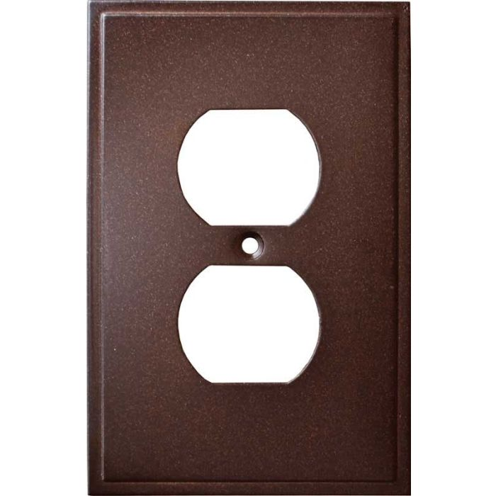 Simple Step Cocoa Bronze 1 Gang Duplex Outlet Cover Wall Plate