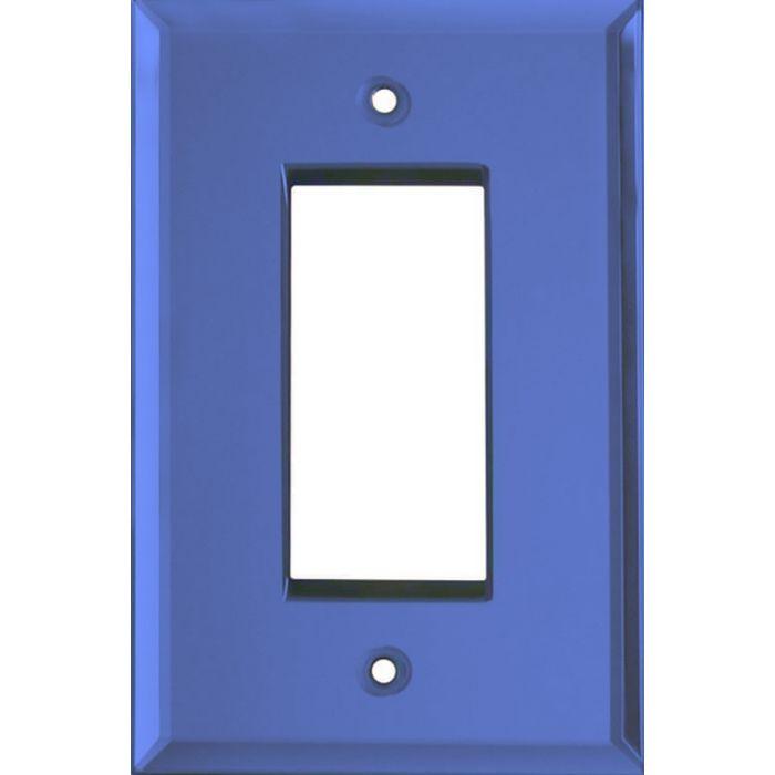 Glass Mirror Sky Blue Single 1 Gang GFCI Rocker Decora Switch Plate Cover
