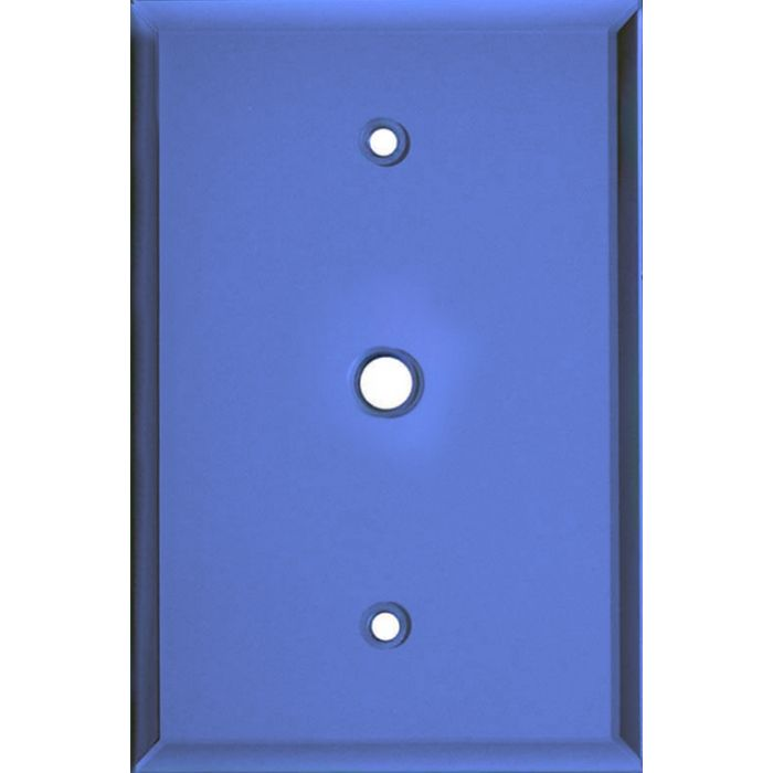 Glass Mirror Sky Blue Coax Cable TV Wall Plates