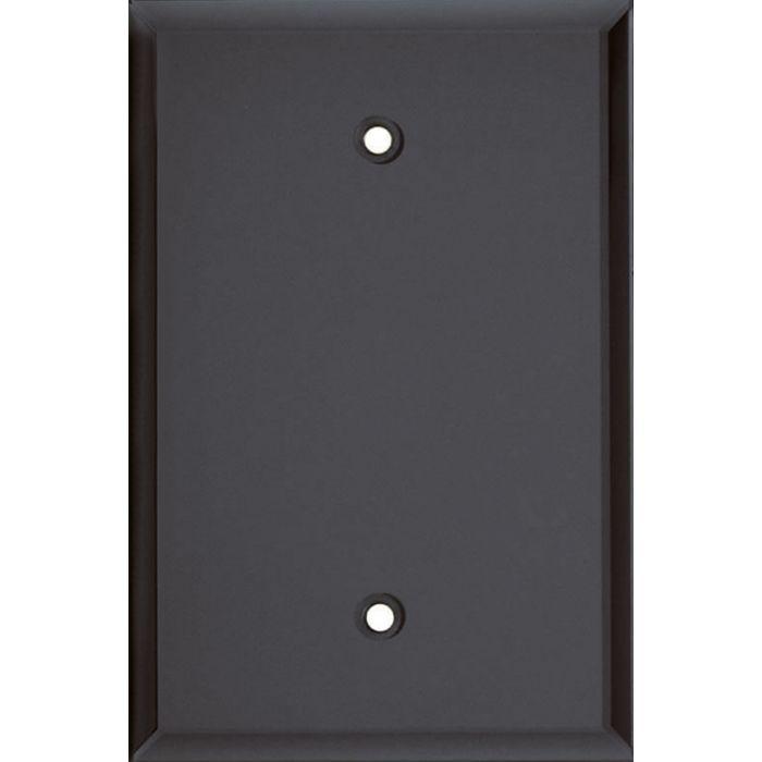 Glass Mirror Smoke Grey Blank Wall Plate Cover