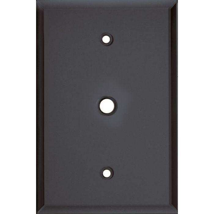 Glass Mirror Smoke Grey Coax Cable TV Wall Plates
