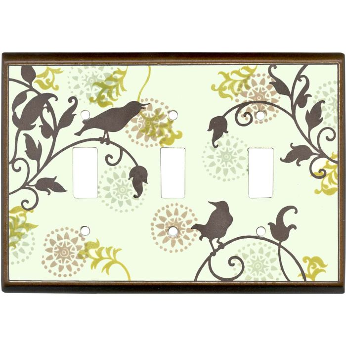 Songbirds Pattern Ceramic3 - Toggle Switch Plates