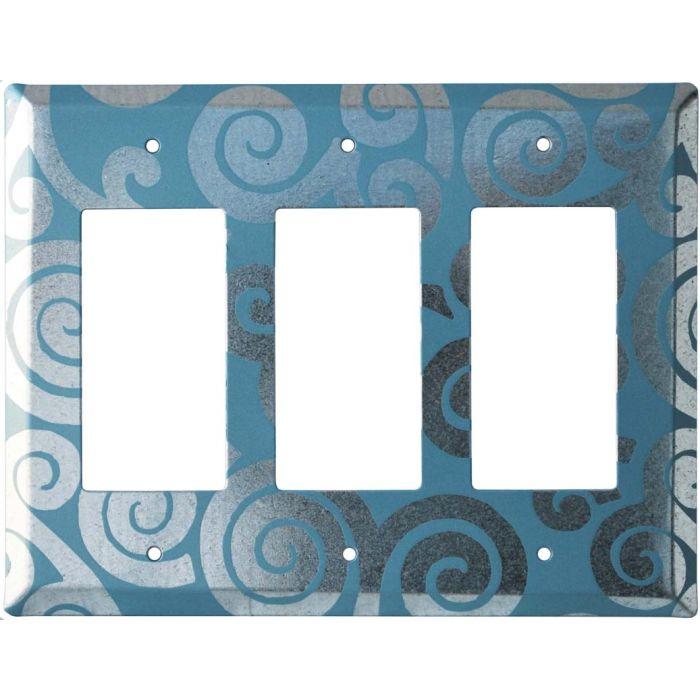 Spirals Chroma 3 - Rocker / GFCI Decora Switch Plate Cover