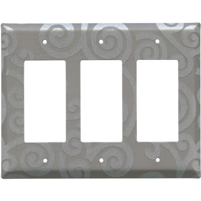 Spirals Loft Triple 3 Rocker GFCI Decora Light Switch Covers