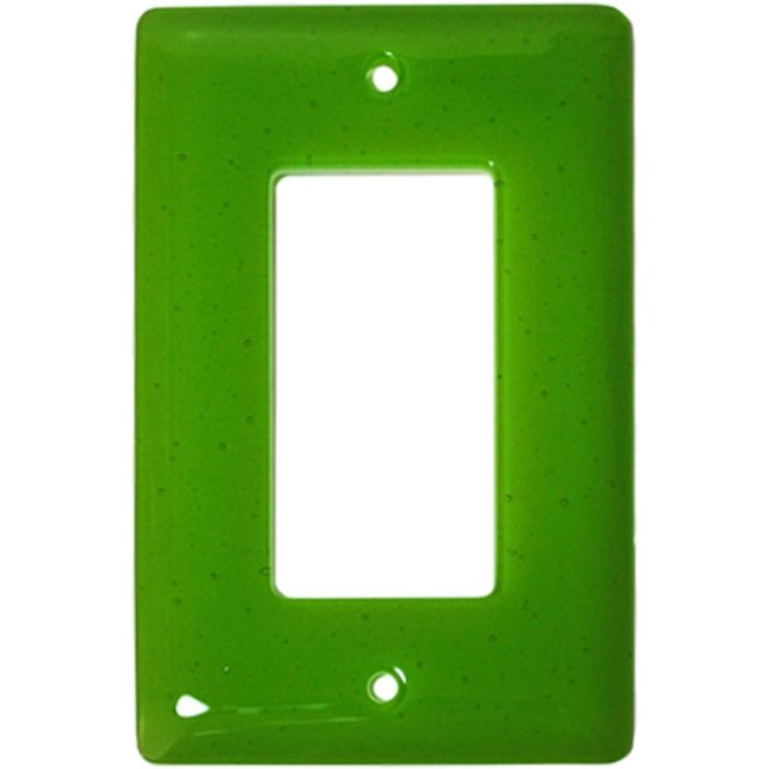 Spring Green Transparent Glass Single 1 Gang GFCI Rocker Decora Switch Plate Cover