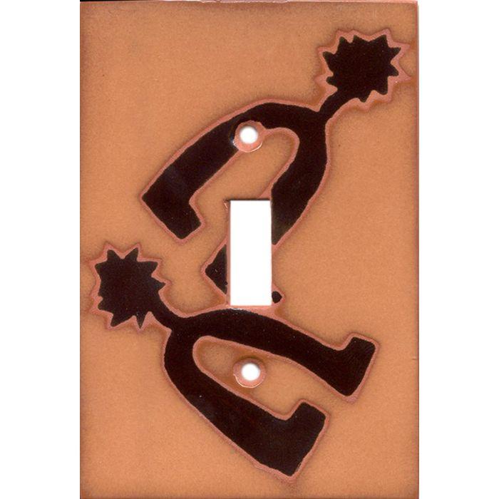 Spurs Single 1 Toggle Light Switch Plates