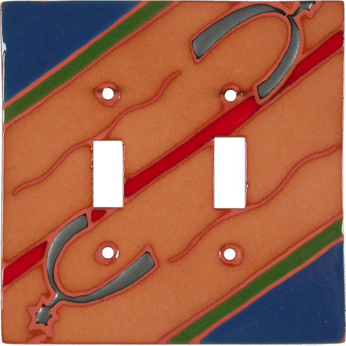 Spurs Blue and Red - 2 Toggle Switch Plate Covers