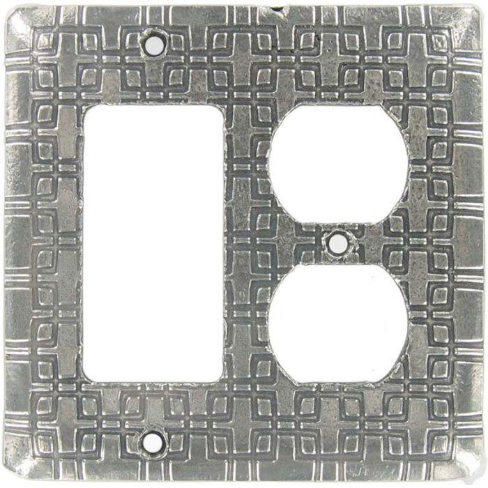 Squares Combination GFCI Rocker / Duplex Outlet Wall Plates