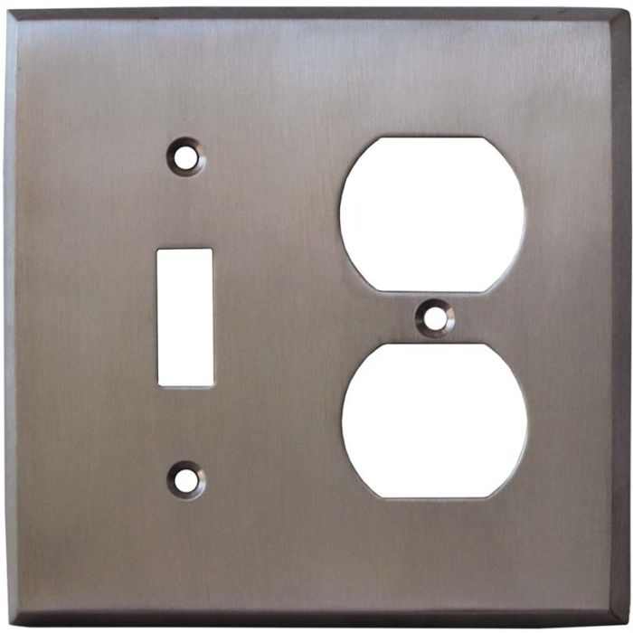 Stainless Steel Finish - Combination 1 Toggle/Outlet Cover Plates