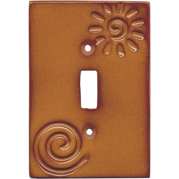 Stamped Swirl Single 1 Toggle Light Switch Plates
