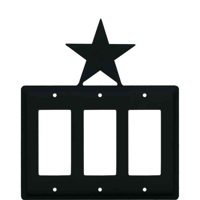 Star Triple 3 Rocker GFCI Decora Light Switch Covers