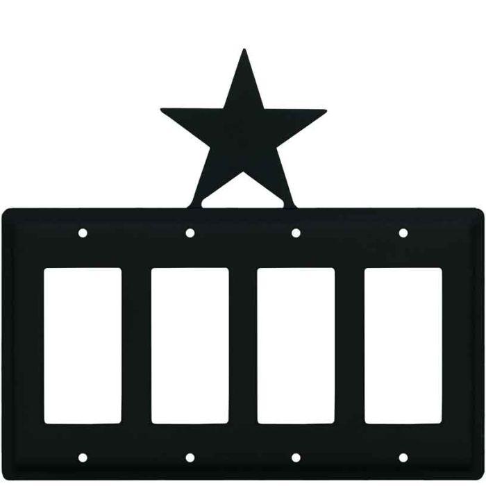 Star 4 Rocker GFCI Decorator Switch Plates