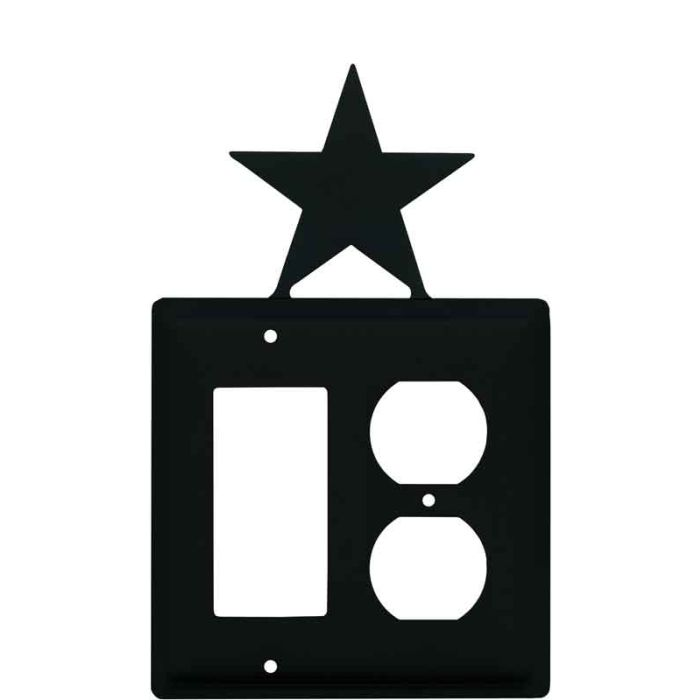 Star Combination GFCI Rocker / Duplex Outlet Wall Plates