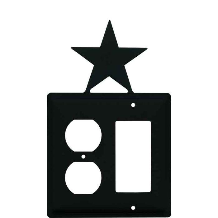 Star 1-Duplex / 1 Decorator Rocker - Combination Switch Cover
