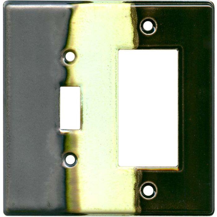 Steelpolitan Combination 1 Toggle / Rocker GFCI Switch Covers