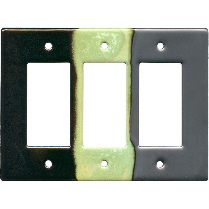Steelpolitan Triple 3 Rocker GFCI Decora Light Switch Covers