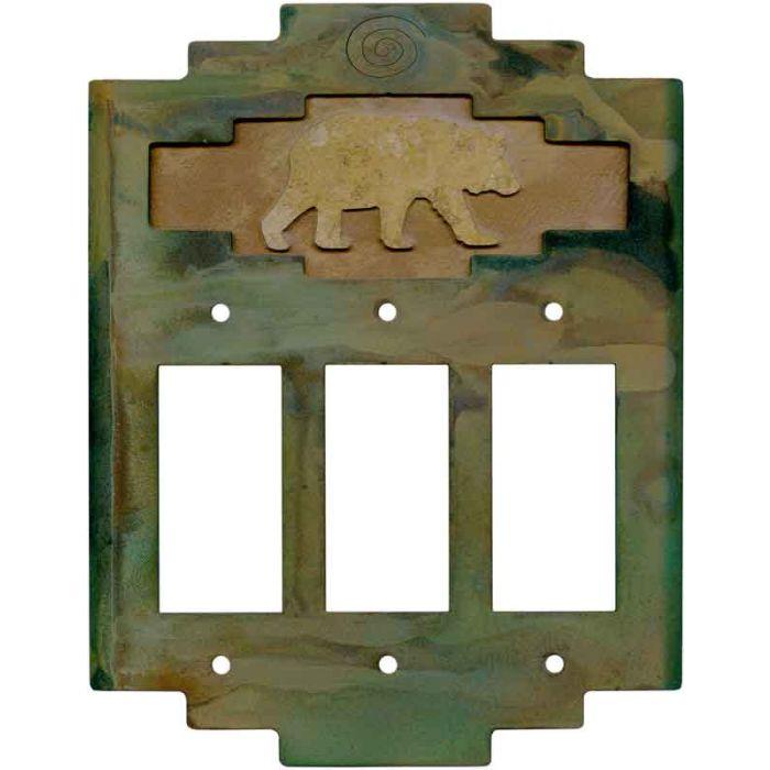 Steppe Bear3 - Rocker / GFCI Decora Switch Plate Cover