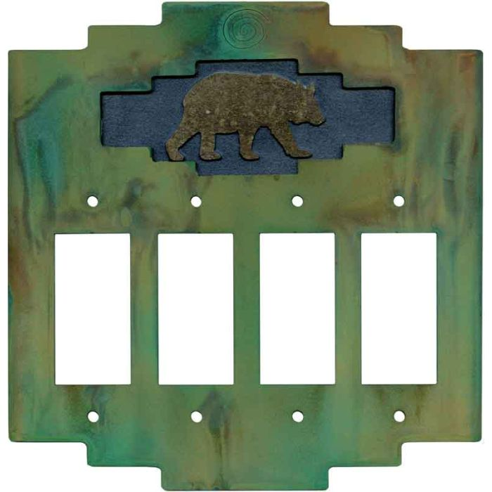 Steppe Bear 4 Rocker GFCI Decorator Switch Plates