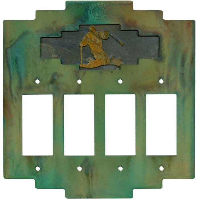 Steppe Skier 4 Rocker GFCI Decorator Switch Plates