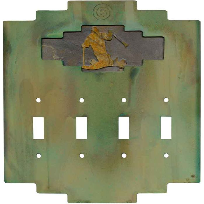 Steppe Skier Quad 4 Toggle Light Switch Covers