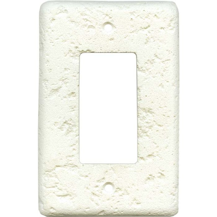 Stonique Biscuit Single 1 Gang GFCI Rocker Decora Switch Plate Cover