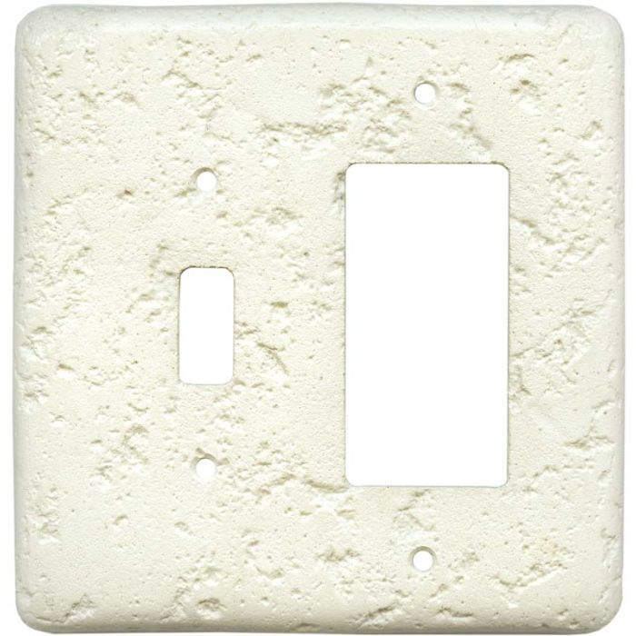 Stonique Biscuit Combination 1 Toggle / Rocker GFCI Switch Covers